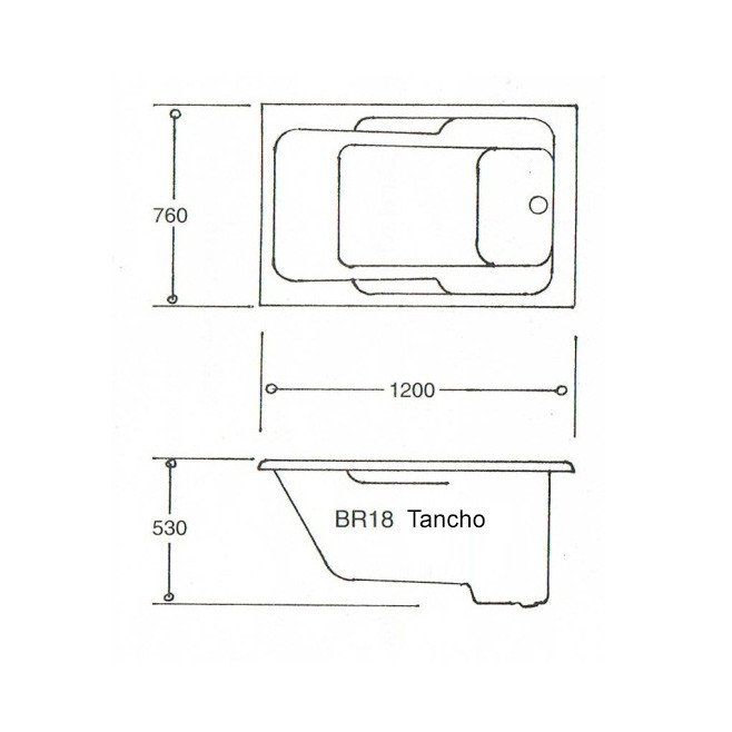 Tancho Japanese Spa Bath Technical Data