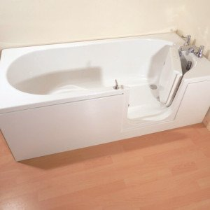 The Avrail 150 Walk In Bath Door Open