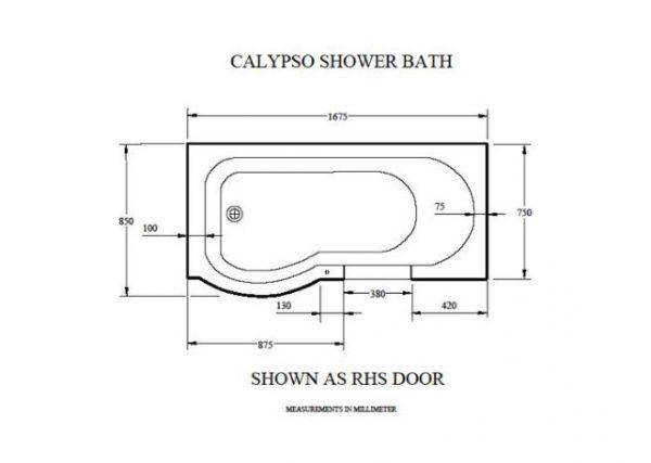 The Calypso Walk In Shower Bath Technical