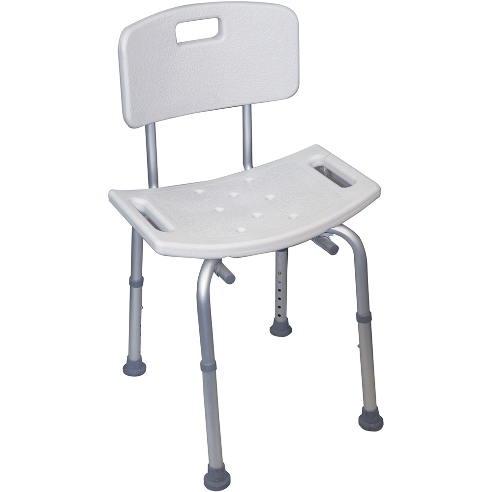 Neptune Shower Stool With Back – Essential Bathing